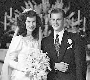 Bob and Peggy Lloyd on their wedding day.