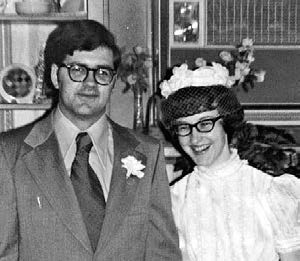 George and Barbara Booker on their wedding day.