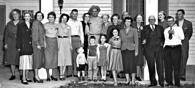 The Johnson Family at the LBJ Ranch, 1953.