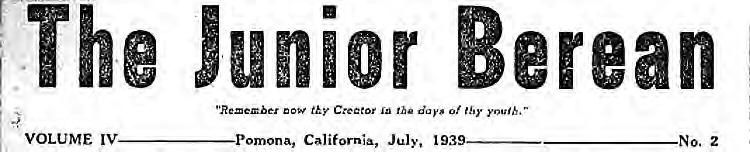 junior berean 1939
