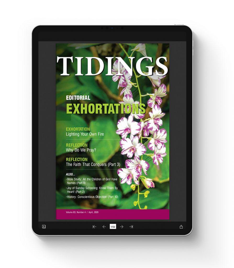 Christadelphian Tidings Digital Edition